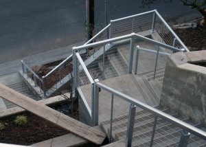 Townhouse railing for concrete stairs