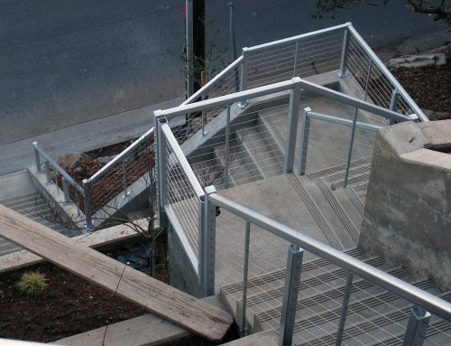 Natural Steel Railing Installations