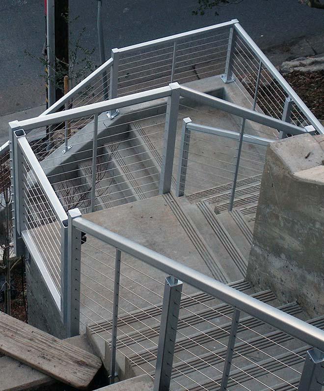 hand railing installation