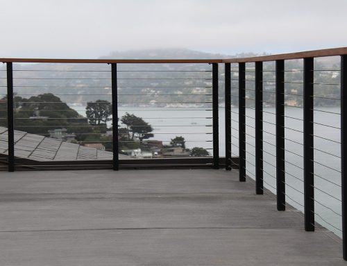 Matte Black Steel Railing Installations