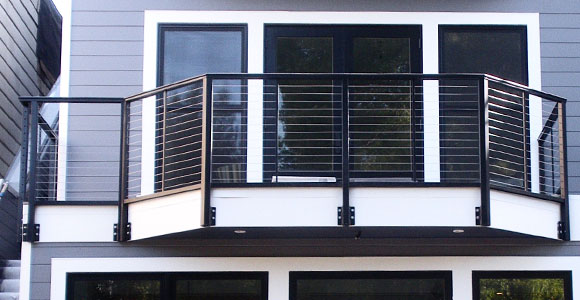 a professional balcony railing installation done by our pros