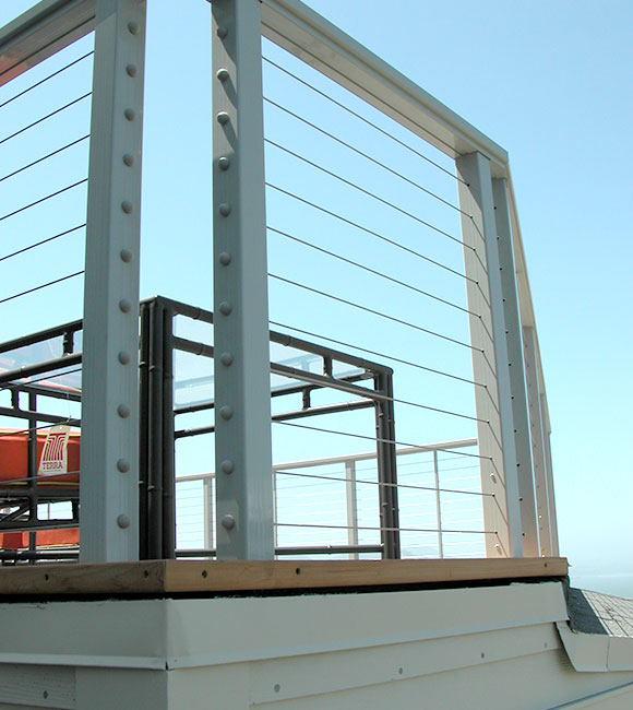 cable railing system installed on a balcony