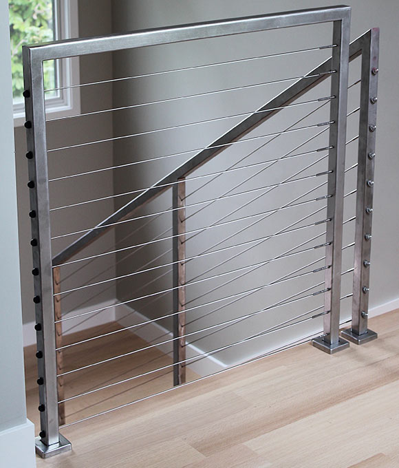 a beautiful cable railing installed by our team