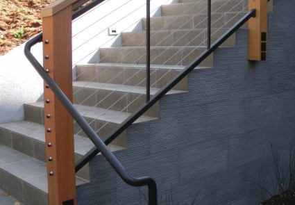 Wood cable railing installation