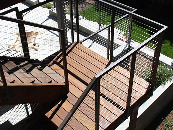 our team finished of a cable railing installation in Napa