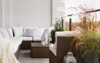 making your balcony comfy for winter